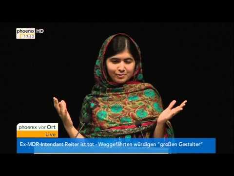 Friedensnobelpreis: Malala Yousafzai über die hohe Auszeichnung am 10.10.2014